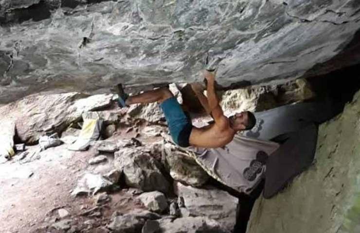 Martin Stranik climbs Underground Paradise in Valais