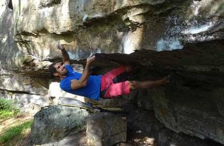 Martin Stranik begeht vier 8er-Boulder an einem Tag