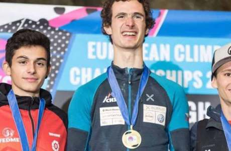 Adam Ondra and Lucka Rakovec win the European Championship in Edinburgh