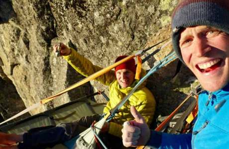 David Hefti and Marcel Schenk open with Sotsura (8a, 260m) a new dream tour in Bergell