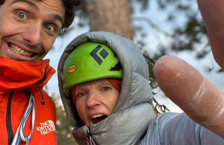 Babsi Zangerl and Jacopo Larcher free climb The Nose on El Capitan
