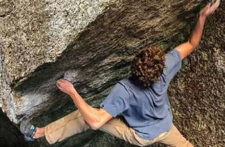 Giuliano Cameroni commits the Boulder Gran Paradiso in the Valle dell'Orco