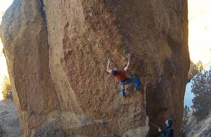 Adam Ondra with 8c + onsight inspection and open projects in Smith Rock