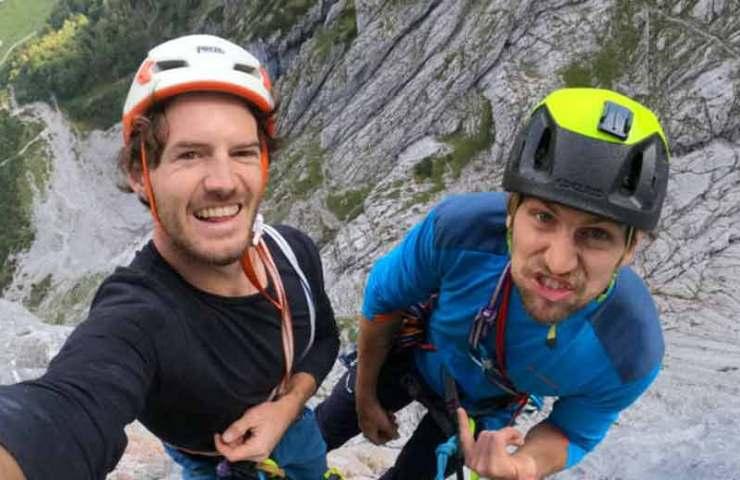Martin Sieberer und Hannes Hohenwarter klettern die Tiroler Riss Trilogie