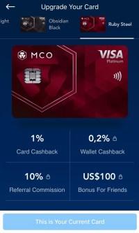 La carte Metal Visa MCO de crypto.com