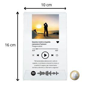 targa spotify con foto personalizzata
