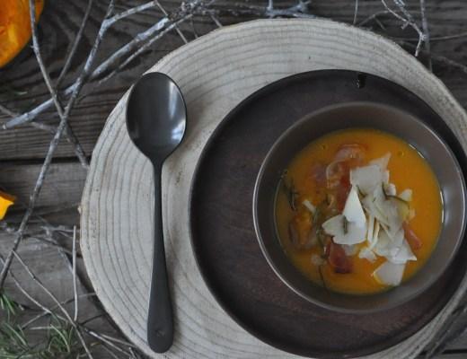 Crema di zucca e castagne