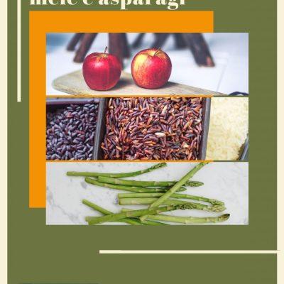 Risotto rosso con asparagi, mele e porri
