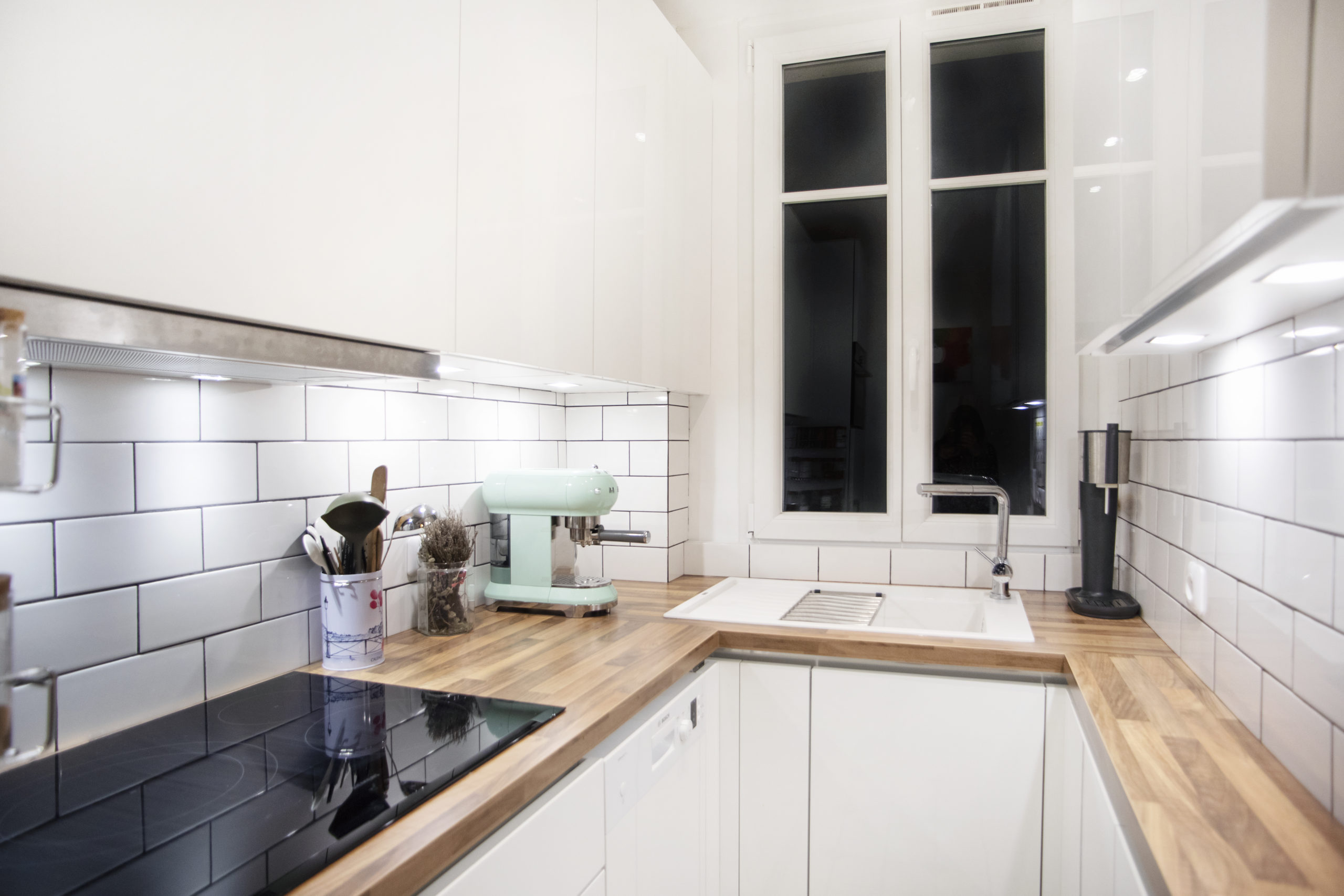 petite cuisine blanche et bois sk concept