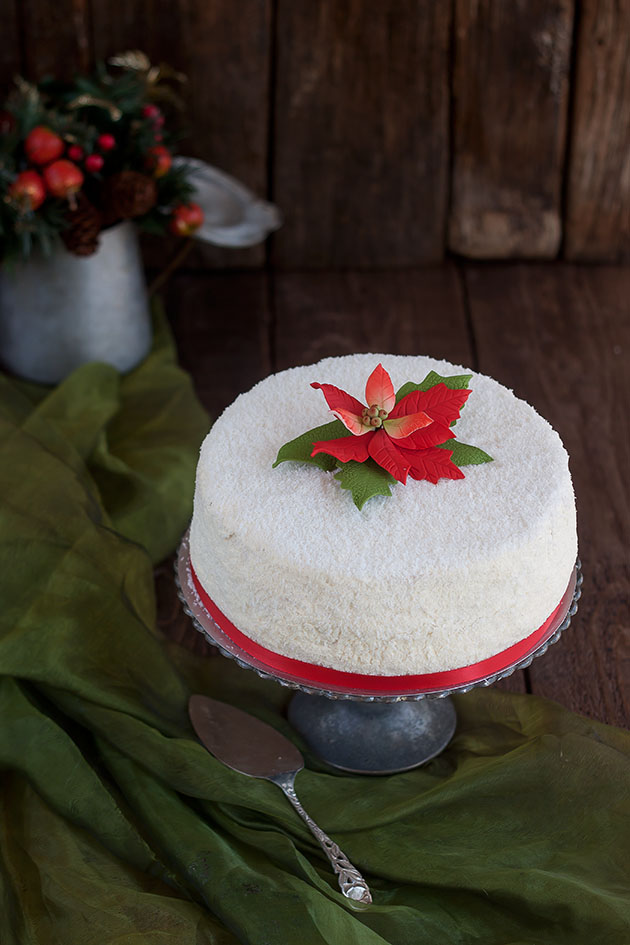 torta arancia e cocco bianco natal