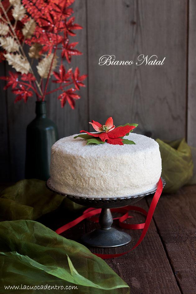 torta cocco e arancia bianco natal