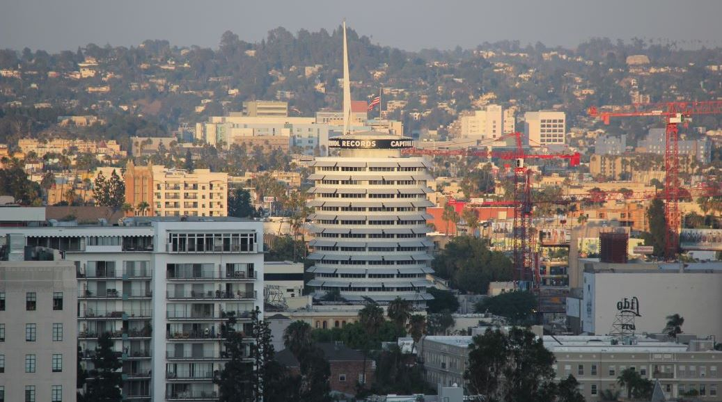 View of the Capitol Records building
