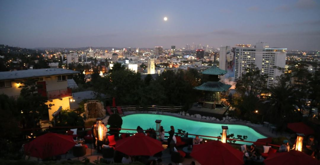 View from Yamashiro including Pool