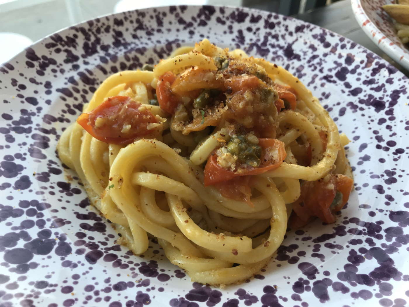 Spaghetti Caprese at La Puglia