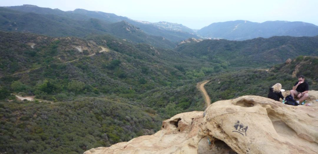 View from the Eagle Rock trail, Topanga Canyon