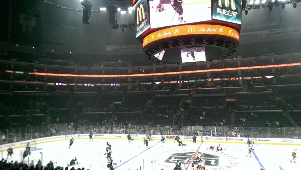 LA Kings at the Staples Center