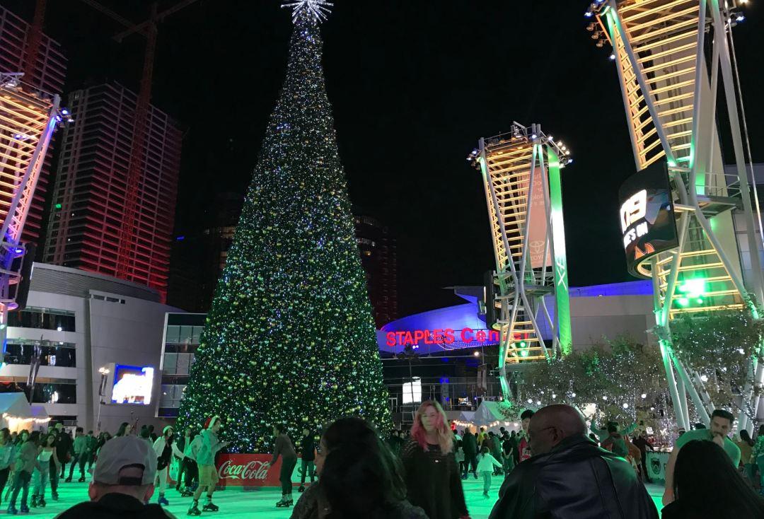 LA Live at Christmas