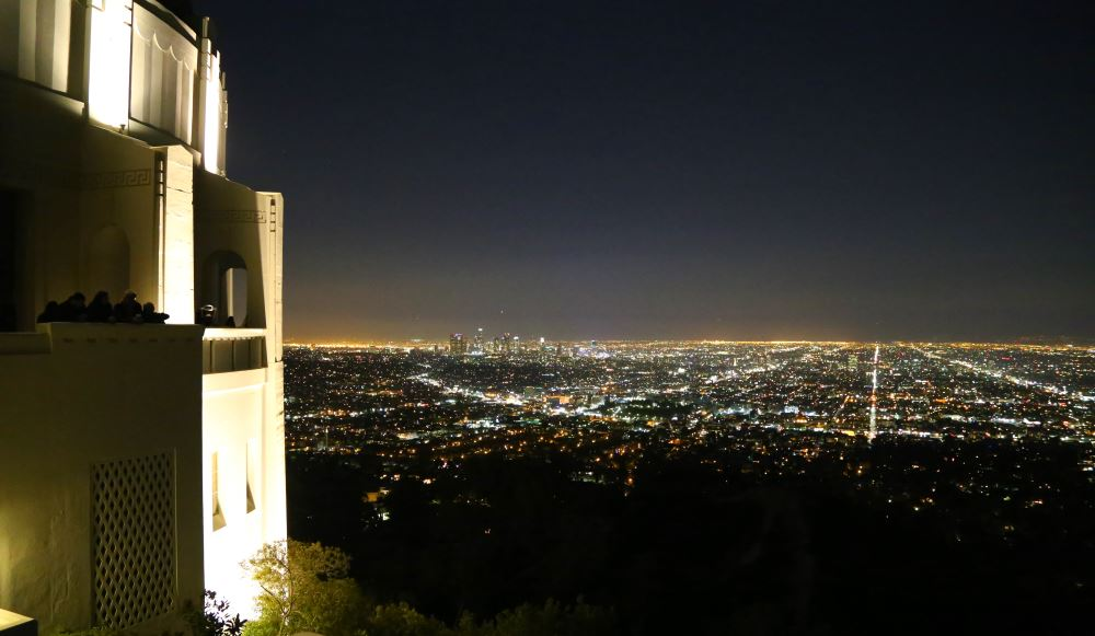 Griffith Park Observatory and view