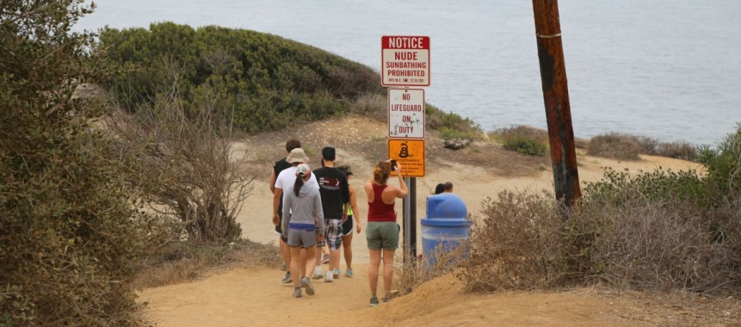 Abalone Cove warning signs