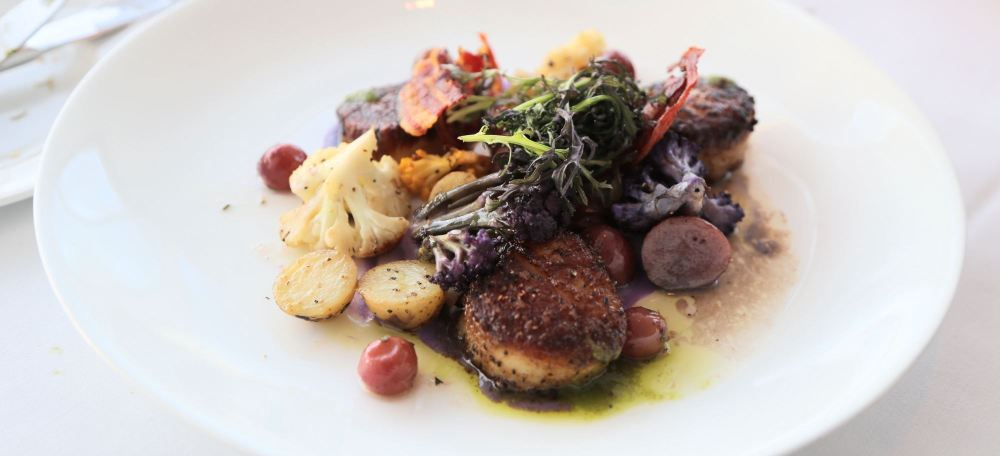 Scallops at The Restaurant at the Getty Center