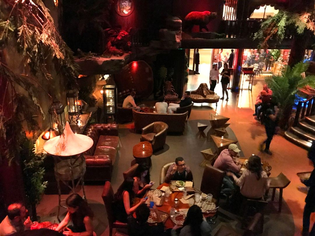 The first floor of Clifton's Cafeteria