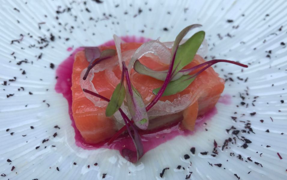 Poached Ora King Salmon at Spago