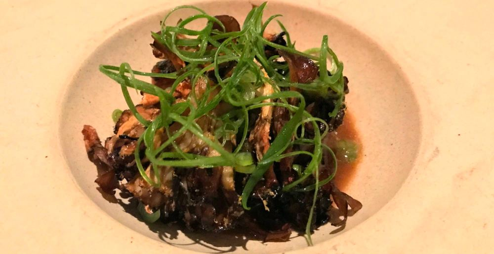 Grilled Maitake mushrooms at 71 Above