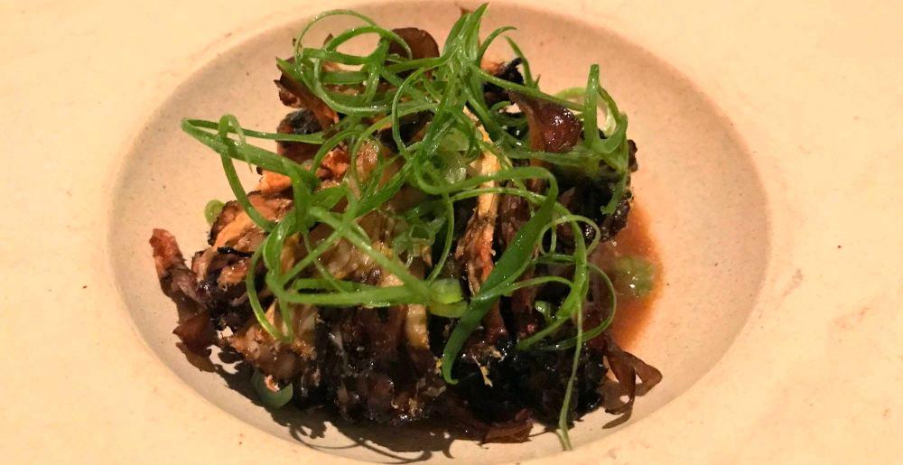 Grilled Maitake mushrooms at 71 Above