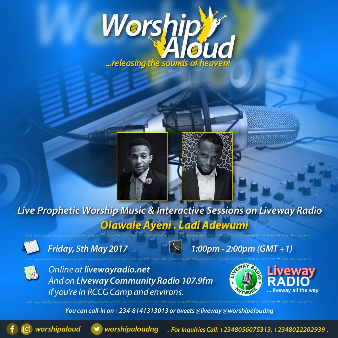 Worship Aloud ...releasing the sounds of heaven! on Liveway Radio