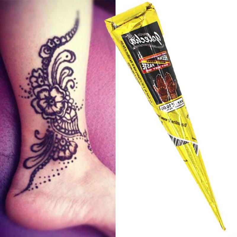 Indian Henna Tattoos Full Body: Henna Cones Indian Henna Tattoo Paste Black Brown Red