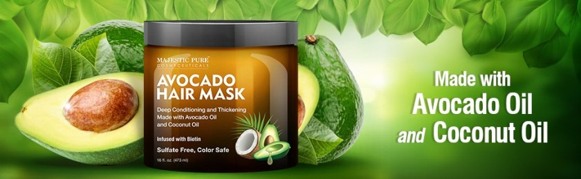 majestic pure avocado hair mask masque deep conditioner healthy scalp natural sulfate parabens free