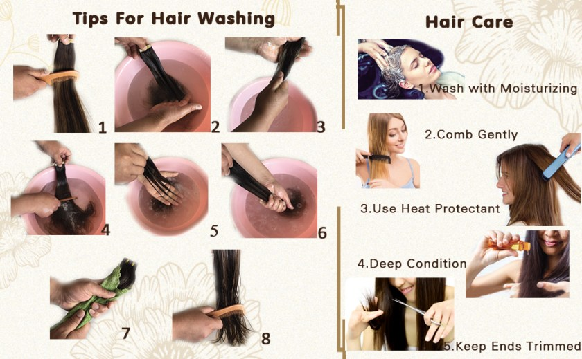 how care hair exntensions