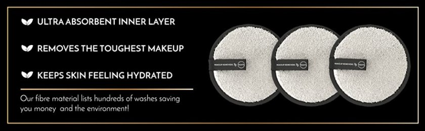 Eye makeup remover  Round make up removers Cotton Rounds Large makeup pads
