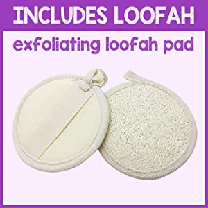 pureSCRUBS Dual Sided Loofah Included With Scrub