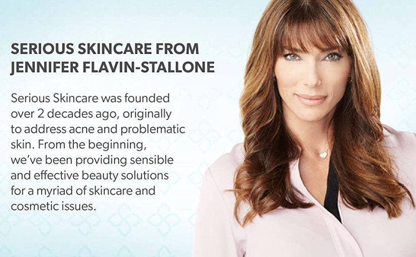 serious skincare, jennifer flavin-stallone, beauty, health, anti-aging, acne, skin, care, women,