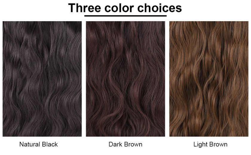 Long Wavy Curly Hair Clip in Hair Extension Dark Brown Color Set Thick Hair Extensions Clip in