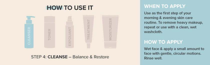 Remove makeup with a cream-to-foam formula that leaves skin feeling clean, smooth and balanced.