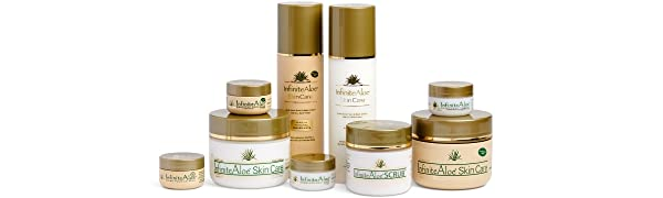 infinite aloe skincare, aloe cream, aloe lotion, facial moisturizer