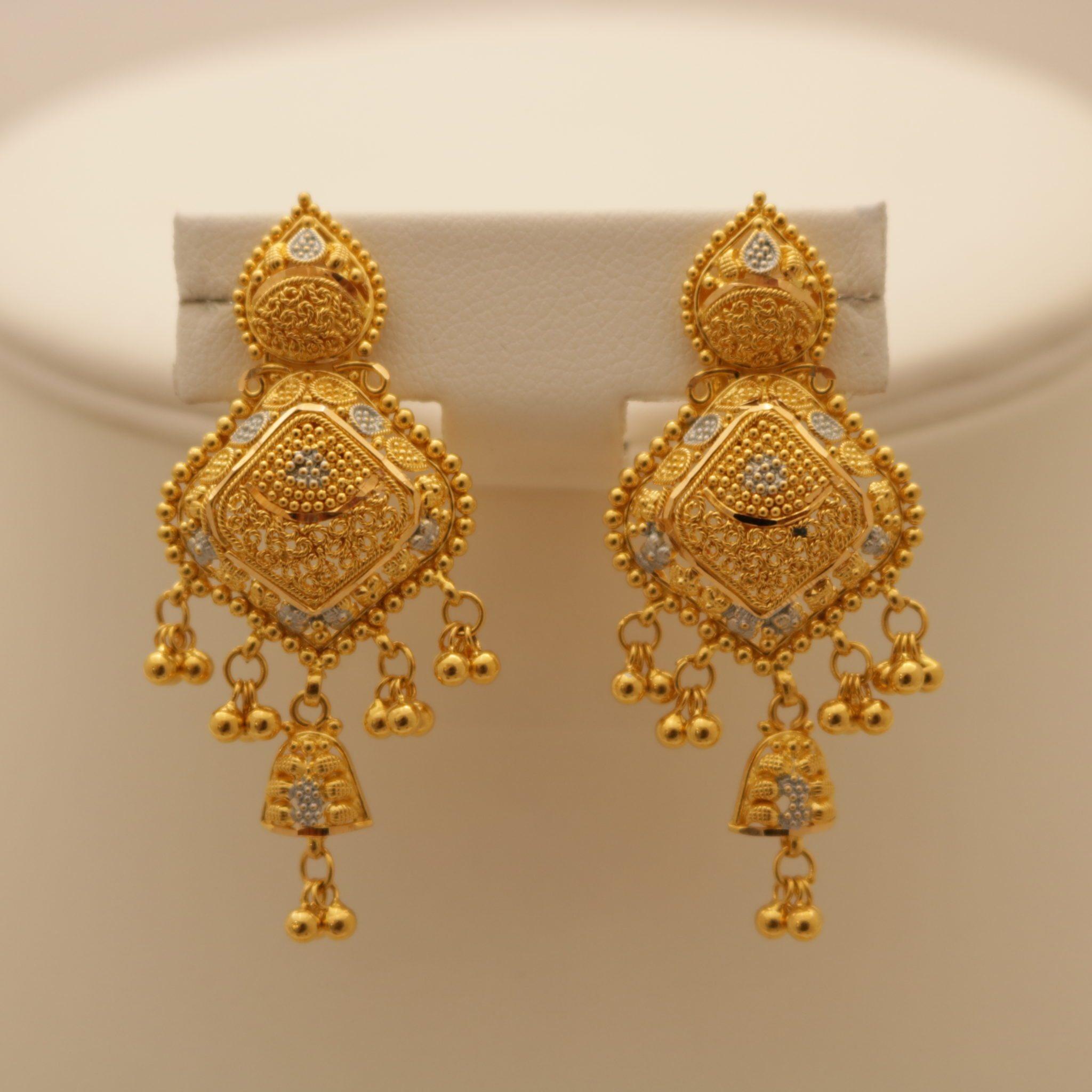 Gold Heavy Earrings Sets Fashion Beauty Mehndi Jewellery