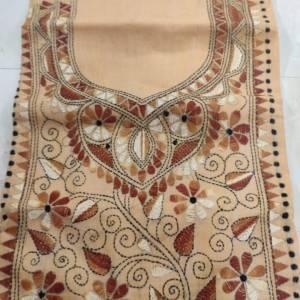 Kantha Stitched Kurta Material