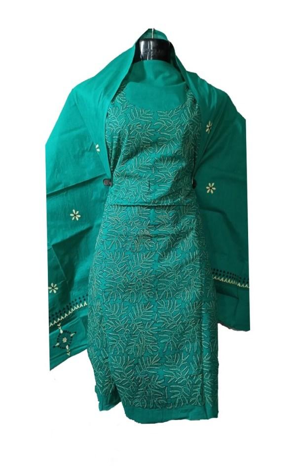 Reverse Kantha Stitched Salwar