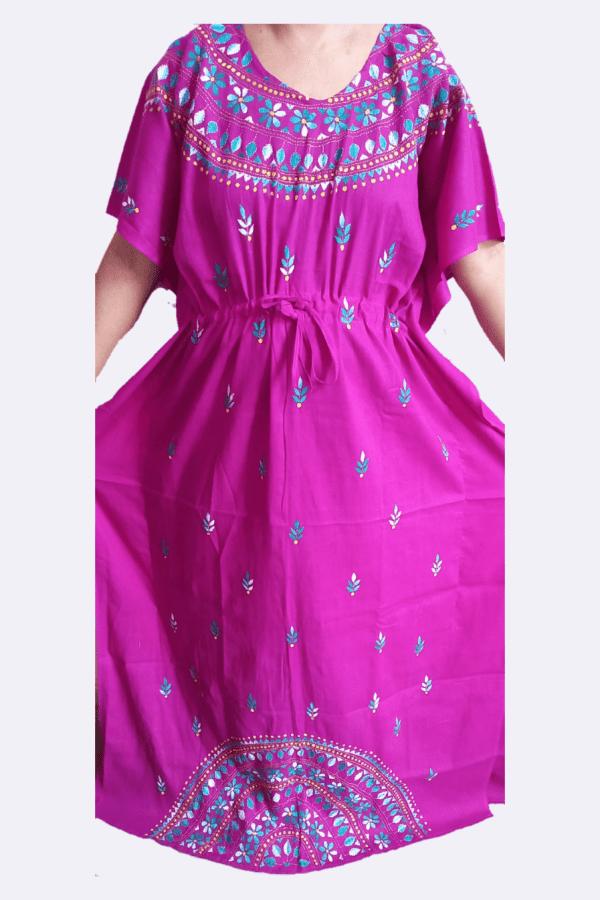 Embroidery Kaftan Nighty