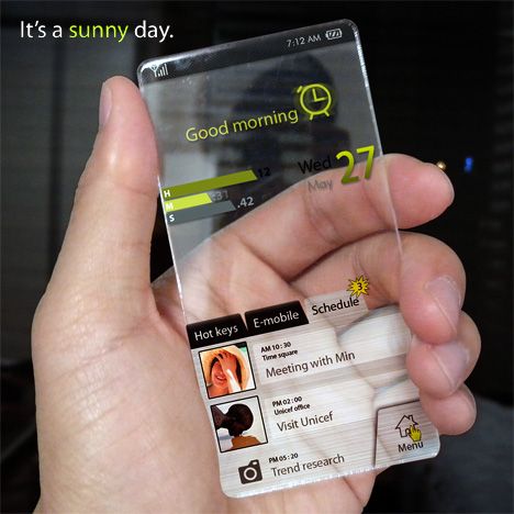 Completely Transparent Cell Phone Concept Designed by Seunghan Song (7)