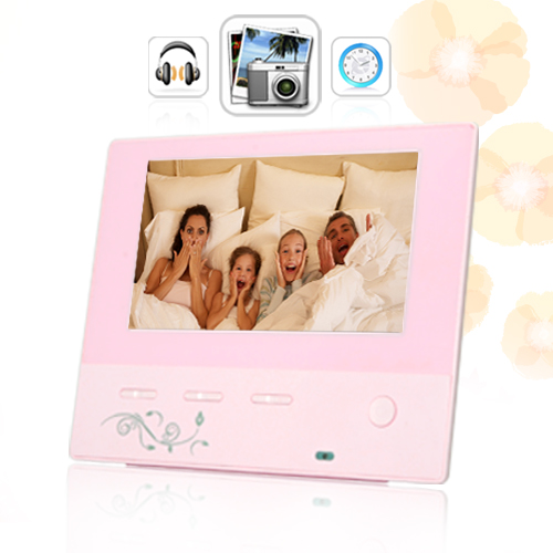 The Bella Digital Photo Frame in Rose Pink (2)