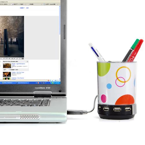 Pen Holder With USB Hub, Desk Light, Speaker and Photo Frame