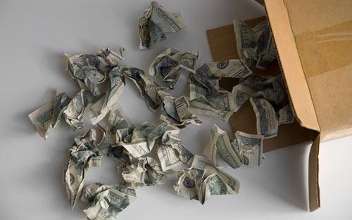 Money Package Cushioning