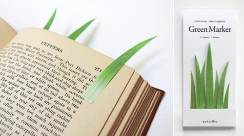 Grass Adhesive Bookmarks