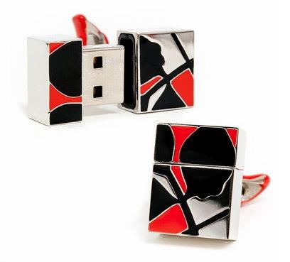 New USB Flash Drive Cufflinks Designed by Ravi Ratan