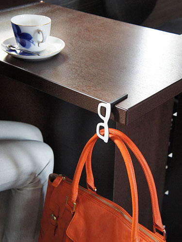 Bag Hangers Shaped Like Glasses