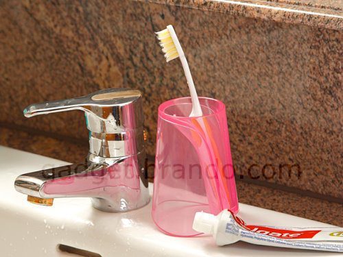 Water Cup With Toothbrush Holder